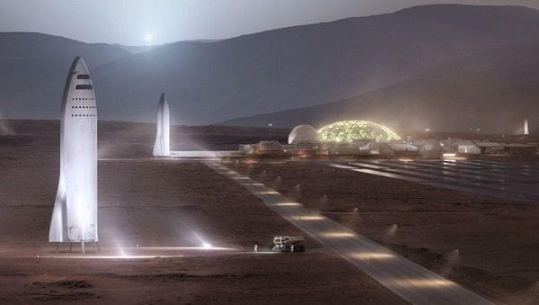 Илон Маск: об особенностях обитаемой базы на Марсе
