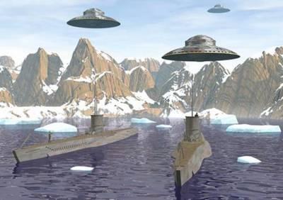 Тайный след НЛО в Антарктиде