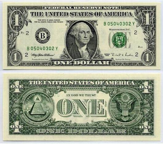 Купюра в один доллар: мистика и тайны