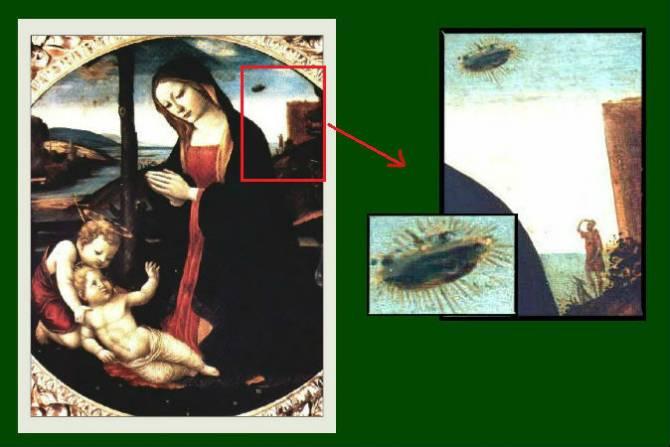 Изображения НЛО на средневековых картинах